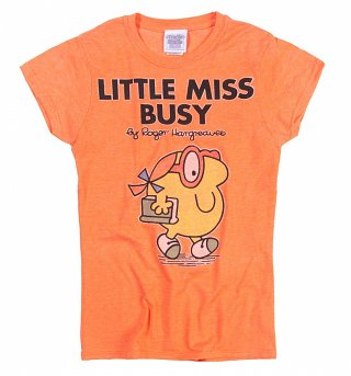 Women's Little Miss Busy Fitted T-Shirt