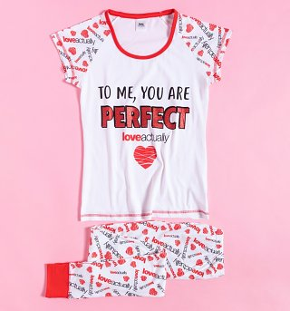 Women's Love Actually To Me You Are Perfect Pyjamas