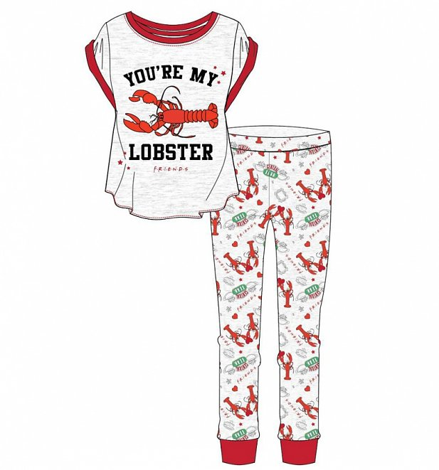 Women's Marl Grey Friends You're My Lobster Pyjamas