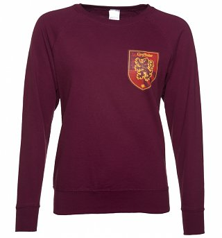 Women's Maroon Harry Potter Gryffindor Crest Sweater