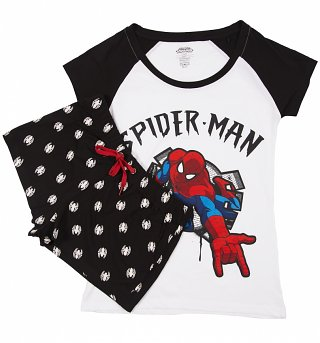 Women's Marvel Comics Spider-Man Shortie Pyjamas