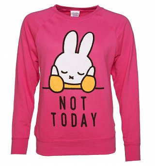 Women's Miffy Not Today Slogan Sweater