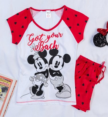 61ad1465 New In Women's Minnie And Mickey Got Your Back Shortie Pyjamas