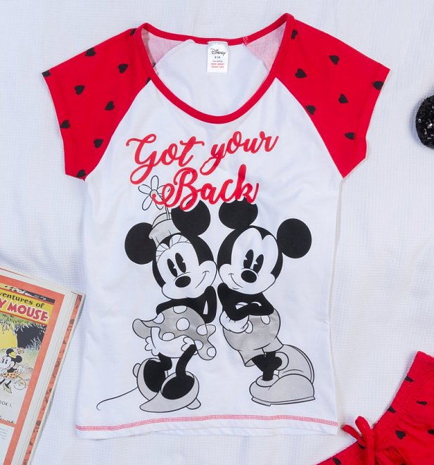 Women's Minnie And Mickey Got Your Back Shortie Pyjamas