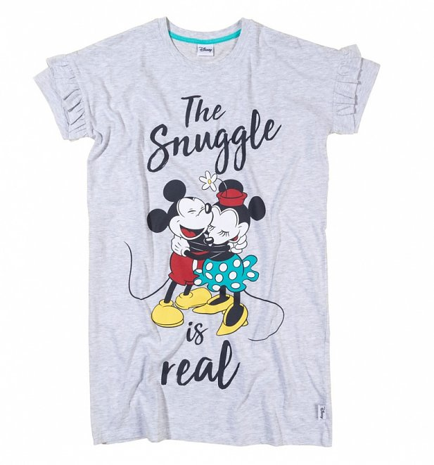 Women's Minnie And Mickey The Snuggle Is Real Nightshirt