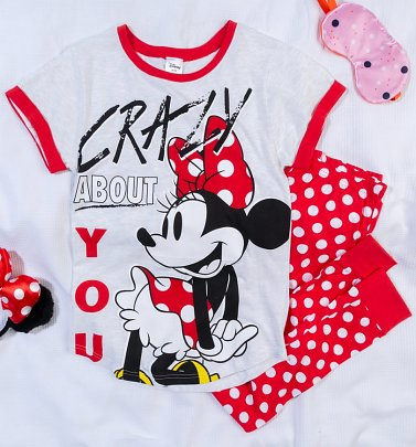 Women's Minnie Crazy About You Pyjamas
