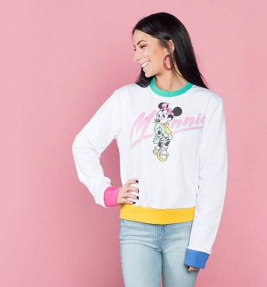 Women's Minnie Mouse Electric Cropped Sweater from Cakeworthy
