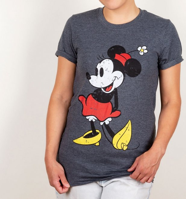 Women's Minnie Mouse Rolled Sleeve Boyfriend T-Shirt