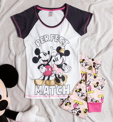 Women's Minnie and Mickey Perfect Match Pyjamas