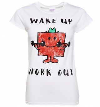 Women's Mr Strong Wake Up Work Out Mr Men T-Shirt