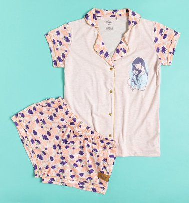 Women's Mulan Button Up Shortie Pyjamas