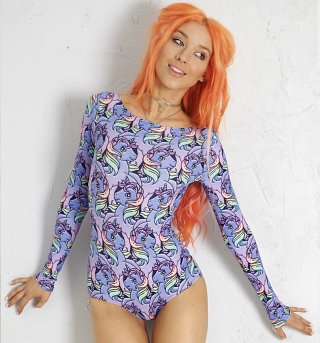 Women's My Little Pony Long Sleeved Bodysuit by Alice Vandy