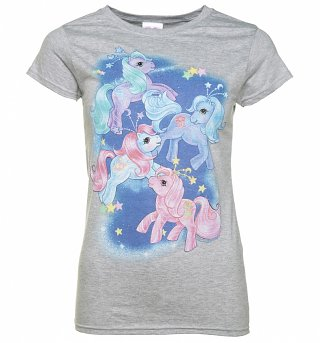 Women's My Little Pony Space Scene Grey T-Shirt