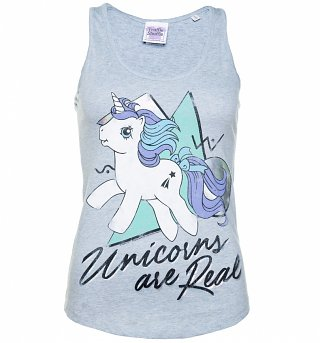 Women's My Little Pony Unicorns are Real Holographic Print Blue Vest