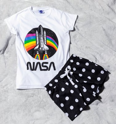 Women's NASA Rainbow Shortie Pyjamas