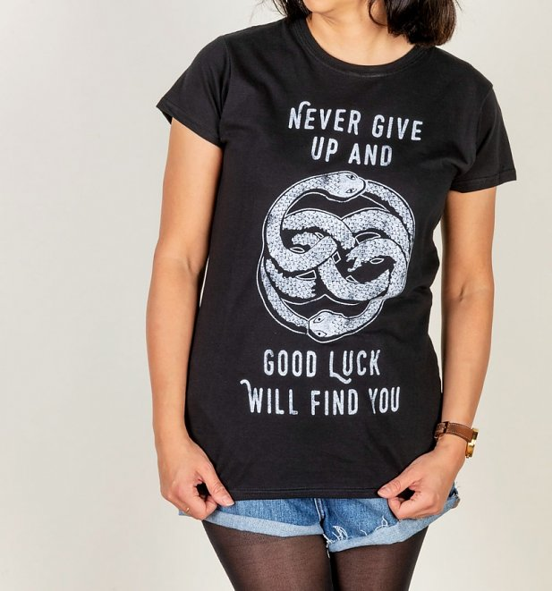 Women's Never Give Up NeverEnding Story Inspired Fitted T-Shirt