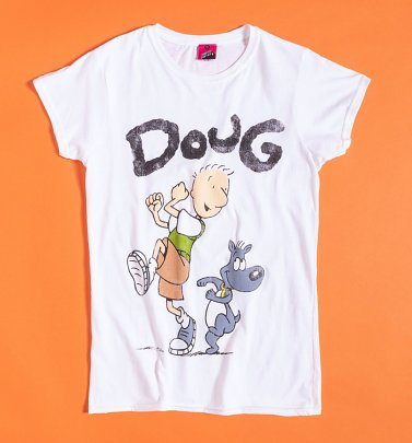 Women's Nickelodeon Doug White Fitted T-Shirt