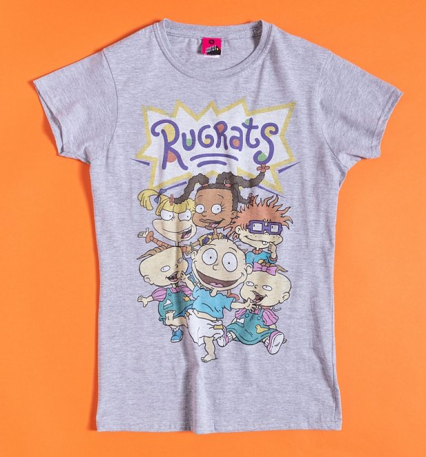 Women's Nickelodeon Rugrats Grey Marl Fitted T-Shirt