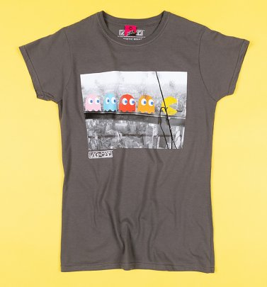 Pac-Man Skyscraper Damen T-Shirt