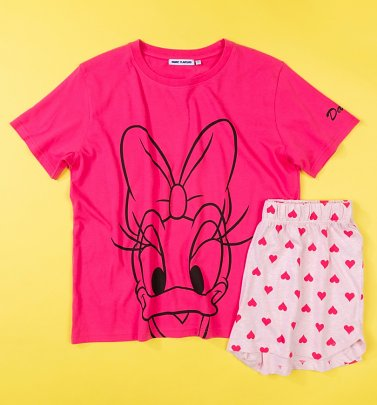 Women's Pink Disney Daisy Duck Shortie Pyjamas