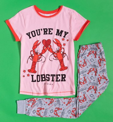 Women's Pink Friends You're My Lobster Pyjamas