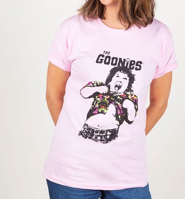 Women's Pink The Goonies Do The TruffleShuffle Boyfriend T-Shirt