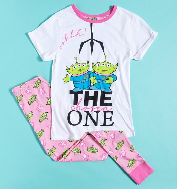 Women's Pink Toy Story Aliens The Chosen One Disney Pixar Pyjamas