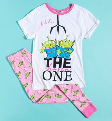 Women's Pink Toy Story Aliens The Chosen One Pyjamas