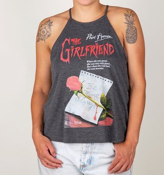 Women's Point Horror Inspired The Girlfriend Dark Heather Flowy High Neck Tank