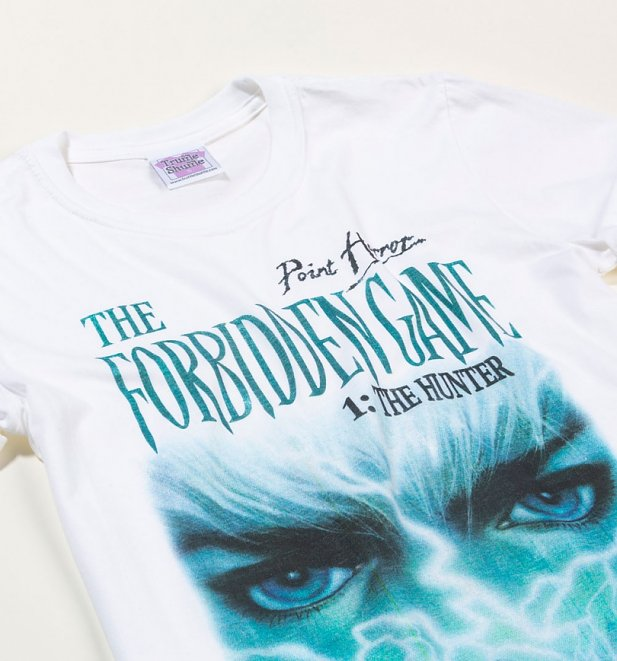 Women's Point Horror The Forbidden Game White Boyfriend Fit Rolled Sleeve T-Shirt