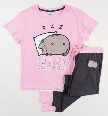 Women's Pusheen So Lazy Can't Move Pyjama Set