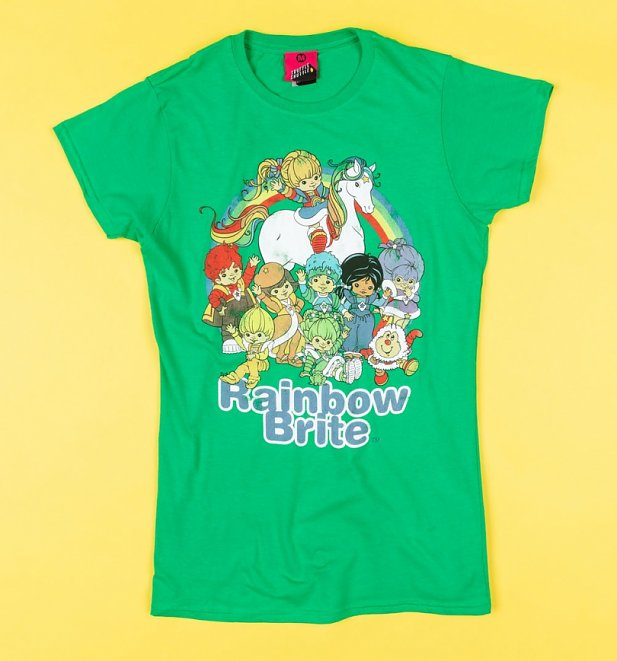 Women's Rainbow Brite And The Colour Kids Fitted T-Shirt
