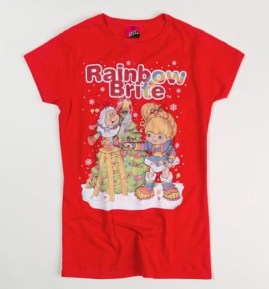 Women's Rainbow Brite Christmas Tree Fitted T-Shirt