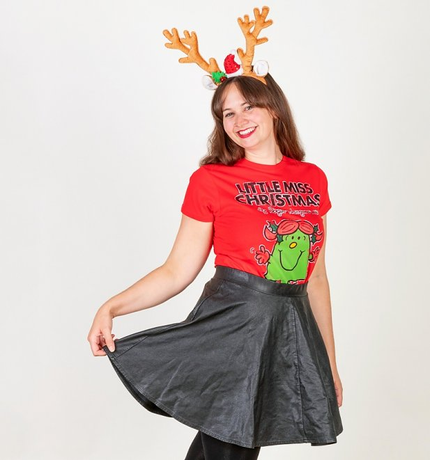 """Little Miss Christmas"" T-Shirt Damen in Rot - Mr Men / Little Miss"