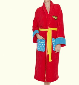 Women's Retro DC Comics Wonder Woman Dressing Gown