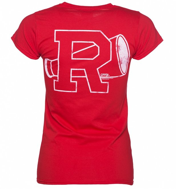 Women's Red Rydell High Grease Cheerleading T-Shirt