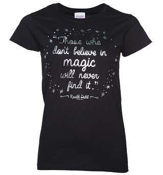Women's Roald Dahl Believe In Magic Foil Print T-Shirt