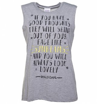 Women's Roald Dahl Good Thoughts Quote Sleeveless T-Shirt