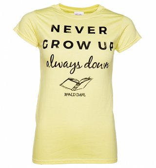 Women's Roald Dahl Never Grow Up T-Shirt