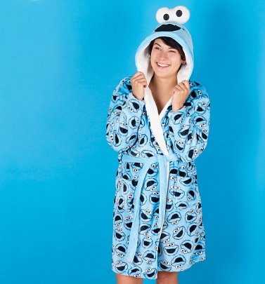 362e1a9334 23% Off Women s Sesame Street Cookie Monster Hooded Robe