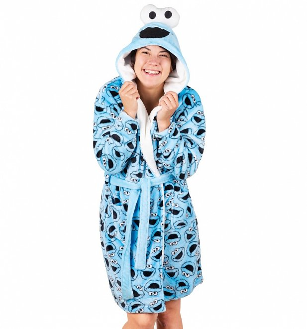 Women's Sesame Street Cookie Monster Hooded Robe