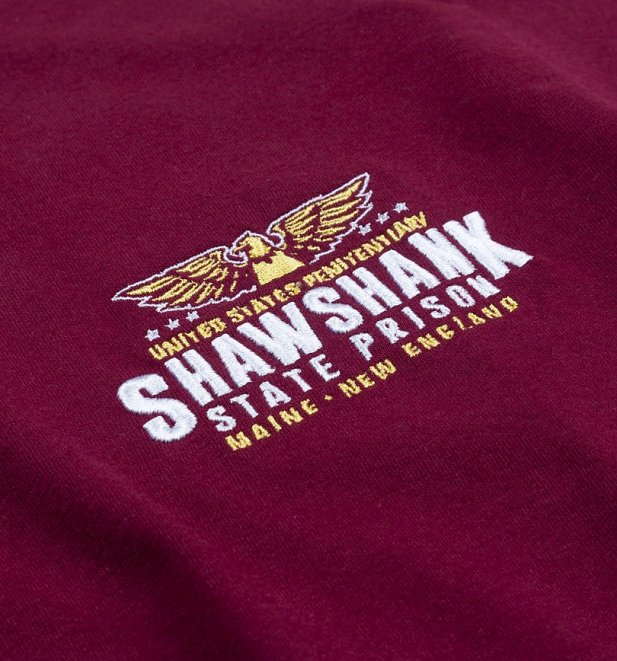 Women's Shawshank State Penitentiary Embroidered Rolled Sleeve Boyfriend T-Shirt