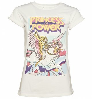 Women's She-Ra And Swift Wind Rolled Sleeve Boyfriend T-Shirt