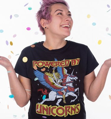 Women's She-Ra Powered By Unicorns Fitted T-Shirt