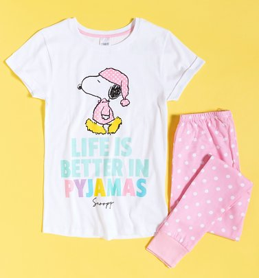 Women's Snoopy Life Is Better In Pyjamas
