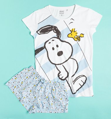 Women's Snoopy Shortie Pyjamas