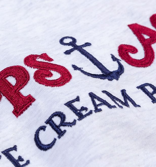 Women's Stranger Things Inspired Scoops Ahoy Ringer T-Shirt
