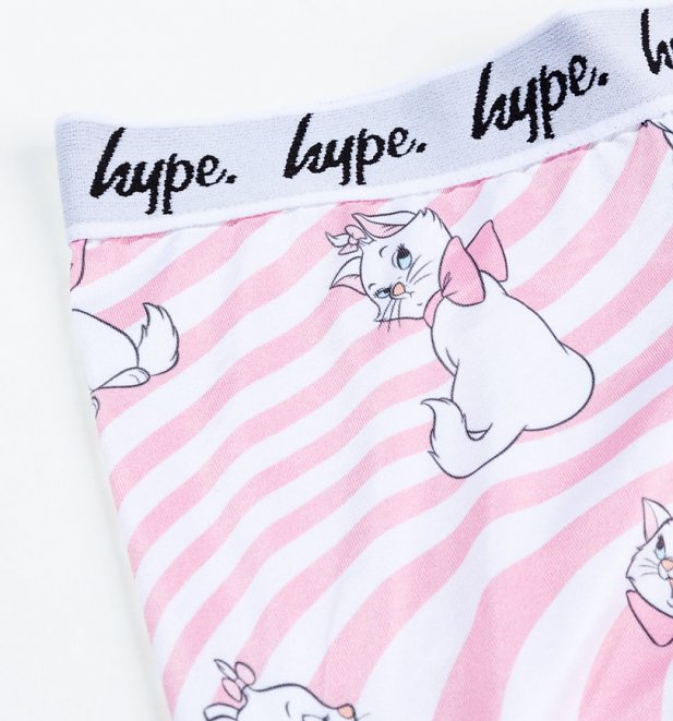 Women's Striped Aristocats Marie Warped Print Leggings from Hype