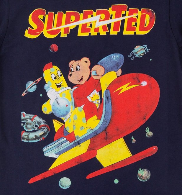 Women's SuperTed Space Scene Navy T-Shirt