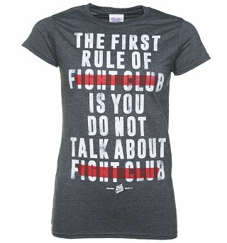 Women's The First Rule Of Fight Club Dark Heather T-Shirt
